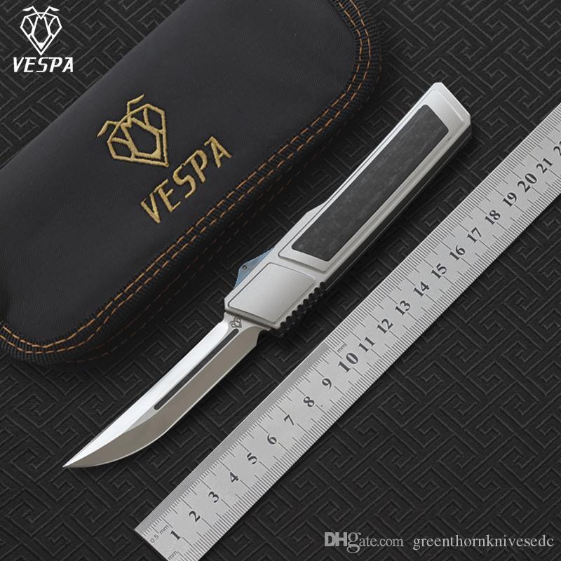 VESPA Ripper doppio pieghevole coltello lama: M390 (Satin) Maniglia: 7075Aluminum + CF, la sopravvivenza di campeggio esterna coltelli strumenti EDC
