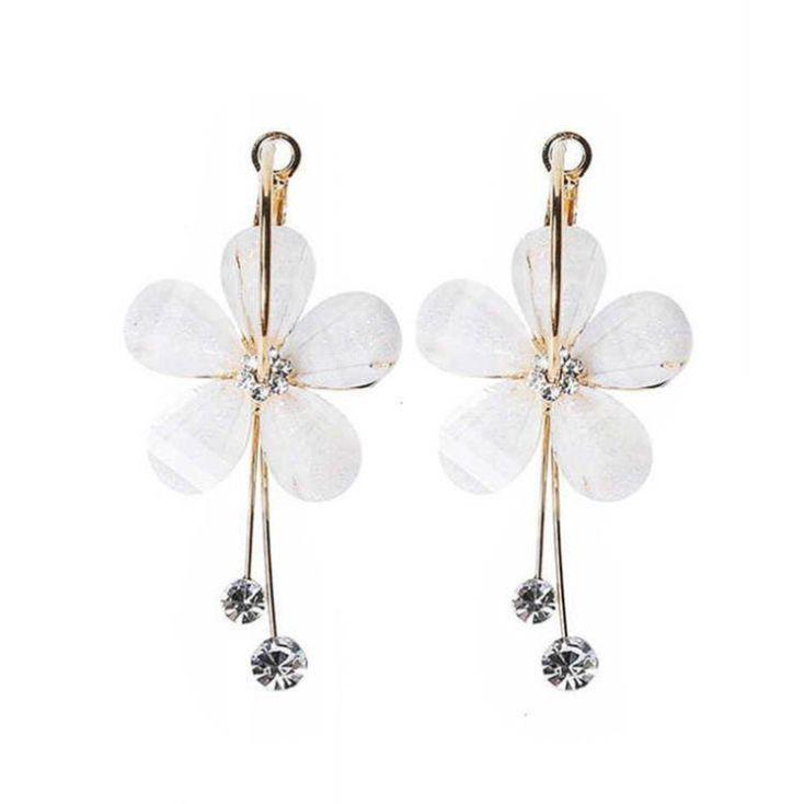 Earrings female long style hipster personality wild earrings Korea small fresh net red S925 silver needle super fairy simple earrings