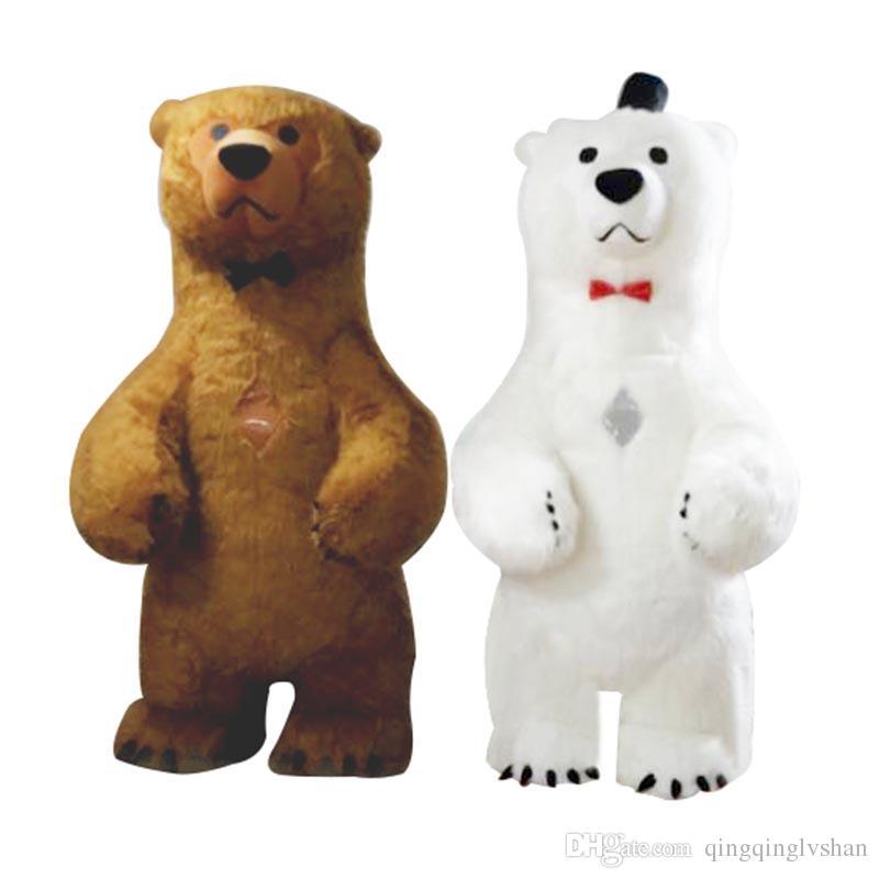 gonfiabile di vendita calda dell'orso polare del costume della mascotte 3M alto per la pubblicità Personalizza adulti Per sposa del costume della mascotte Animal Costume