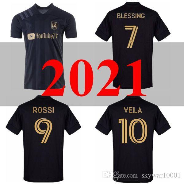 NOVO 2020 LAFC Carlos Vela de Futebol 2020 2021 ZELAYA ROSSI Los Angeles FC Preto MLS Parley primária BRANCO camisas de futebol