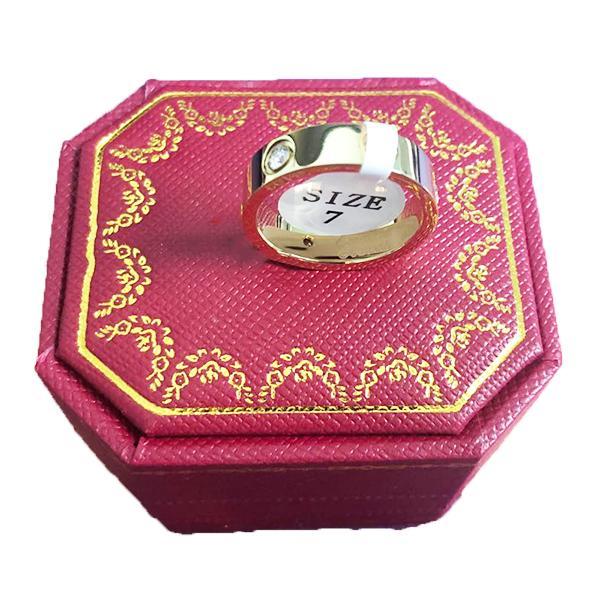 Gli amanti di nozze di titanio anello in acciaio per le donne CZ Zirconia rosa d'oro Anelli di fidanzamento uomini gioielli regalo PS8401