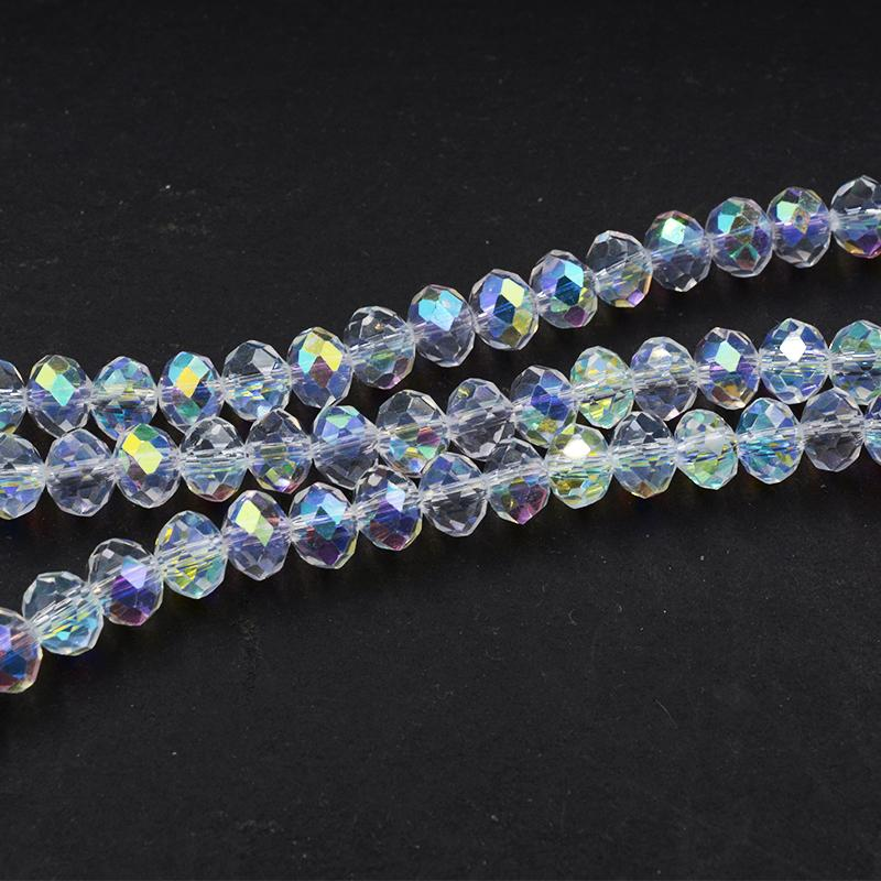 Wholesale Abet Clear Glass Crystal Spacer Beads 4 6 8 10 12 Mm 선택 보석 만들기를위한 Siz