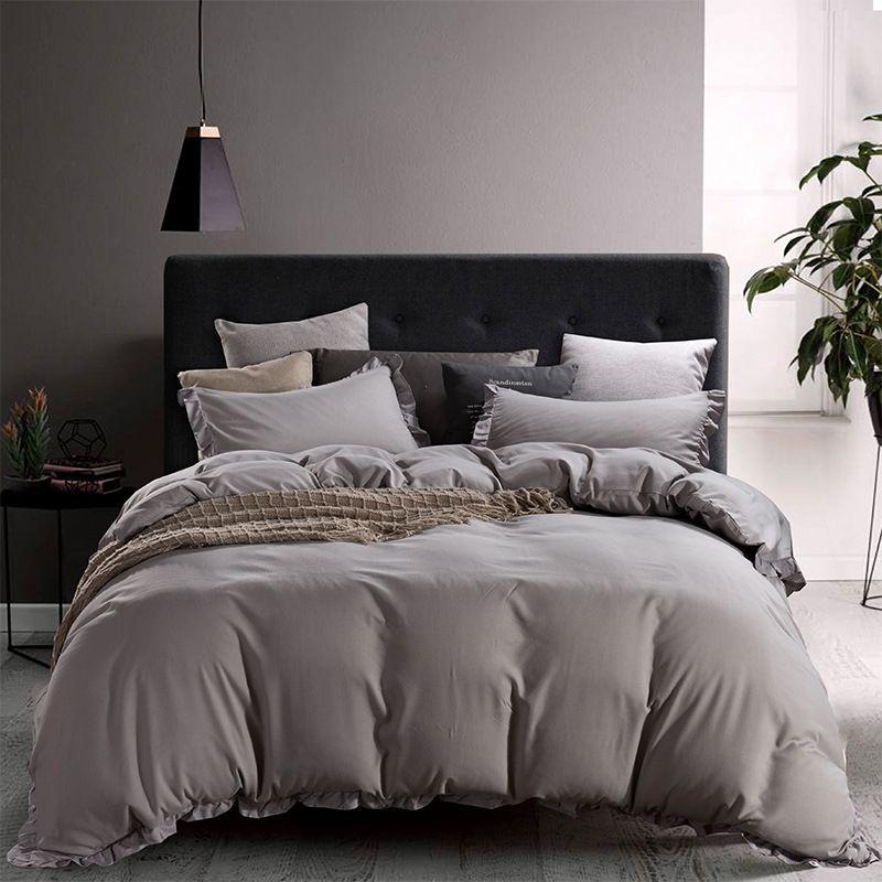 Großhandels3pcs Duvet Set Bettbezug Kissen Bettwäsche Bag-Blatt für TWIN Voll QUEEN KING California King Size