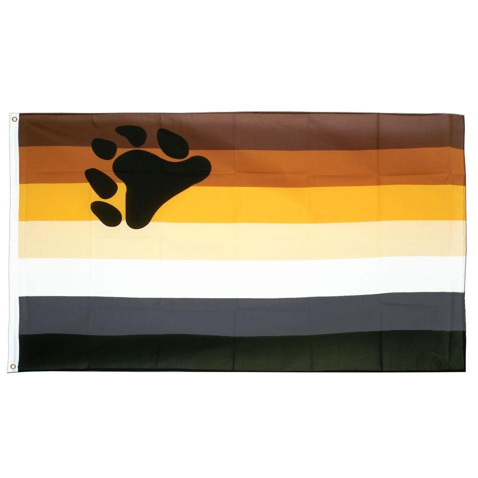 Медведь гордость флаг 3x5 футов гордость гей баннер 90x150 см двойной сшитый розовый синий полиэстер с латунными люверсами