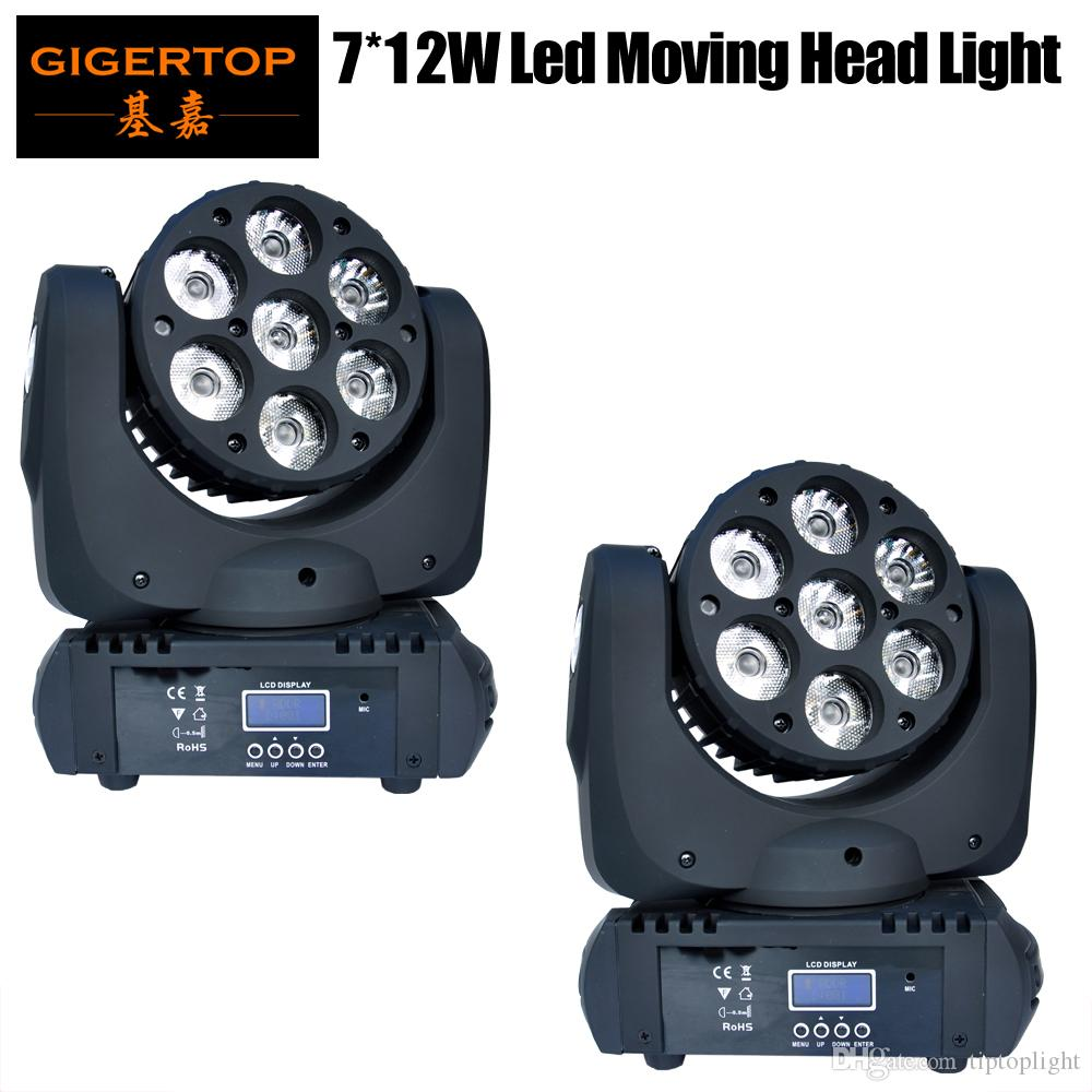 2pcs / parti 7x12w 4in1 LED Moving Head Light Beam Effect Moving Head Light 15dmx CHS Stage Lighting Moving Head Light