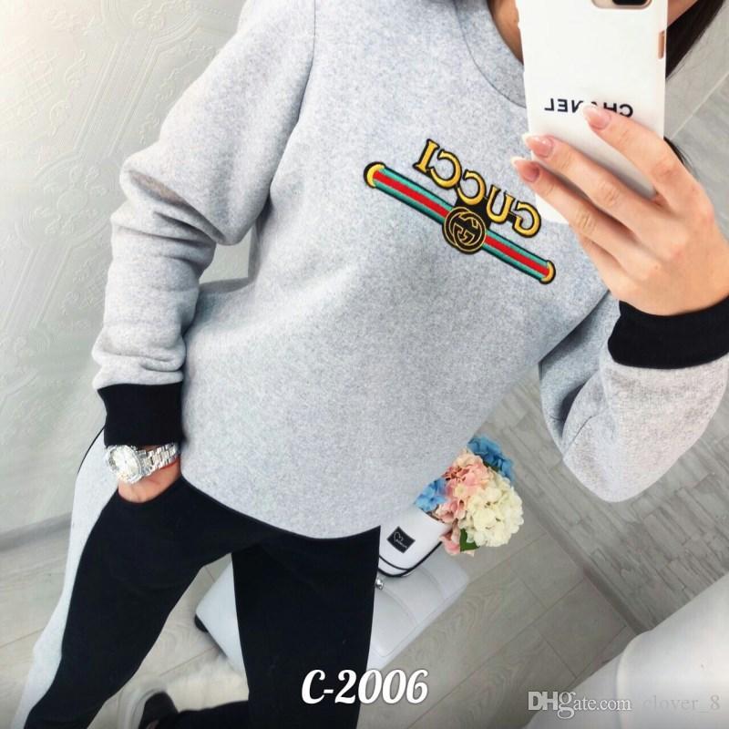 Frauen Trainingsanzug Hoodie Leggings Outfits Pullover Hosen Sportswear Tops + keuchen beiläufiger Sportanzug schlank Sport Satz fällt neuen heißen Verkauf 2130