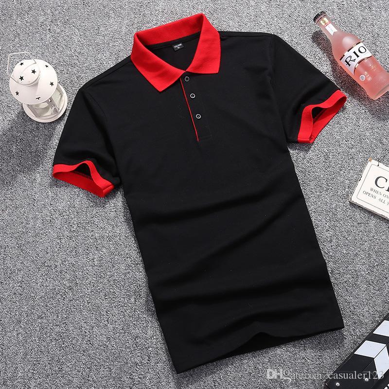 New 2019 Fashion Brand Men Polo shirt Solid Color Slim Fit Shirt Men Cotton polo Shirts Casual Shirt big size M-3XL jersey tops