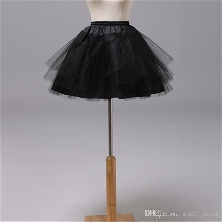 Brand new sottogonne per Flower Girl Dress 3 strati No Hoop Bianco / Rosso / Nero Bambini corti Crinoline Girls / Kids / Child Underskirt