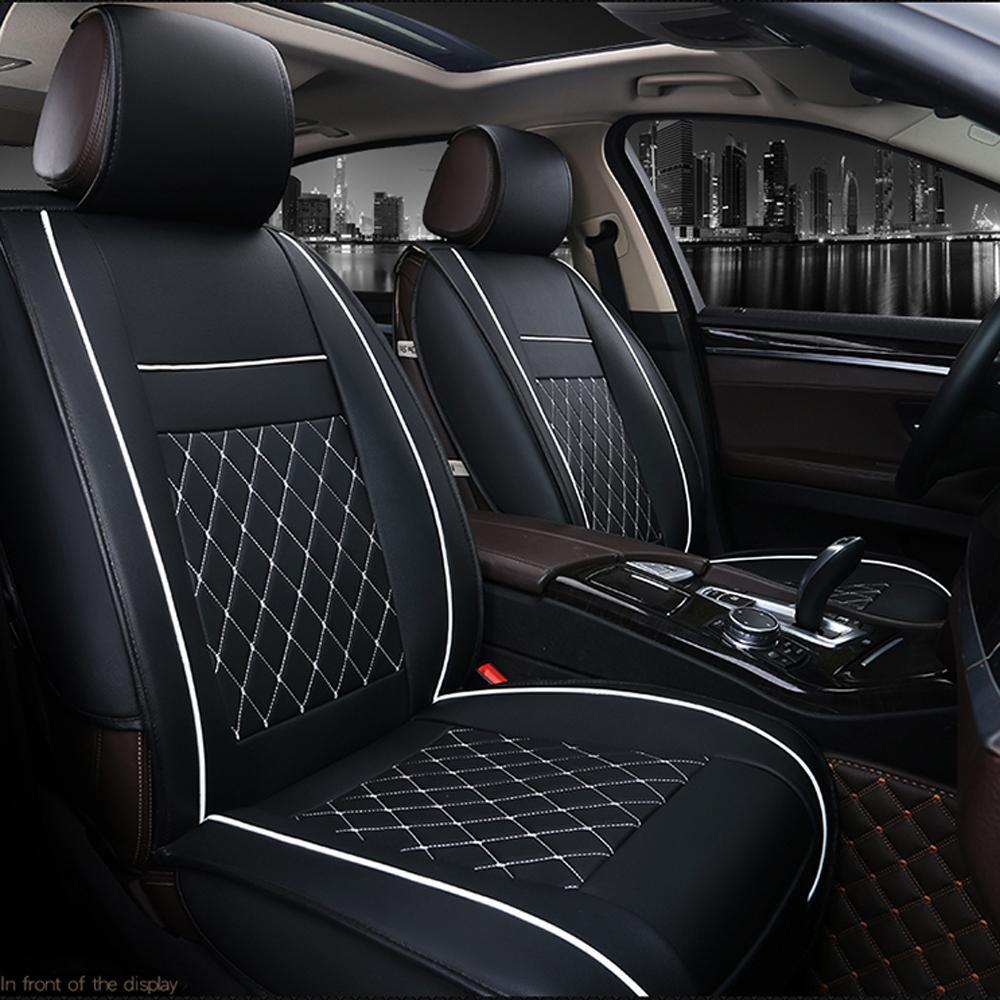 Cuoio dell'automobile di modo di lusso della sede rilievo di sostegno auto universale Cuscino Auto Accessori Interni
