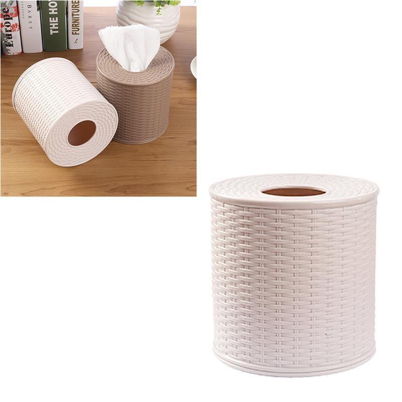 Tissue Box Runde Serviettenhalter Tissue-Papierspeicher-Container Box Startseite Organizer Dekoration-Werkzeuge
