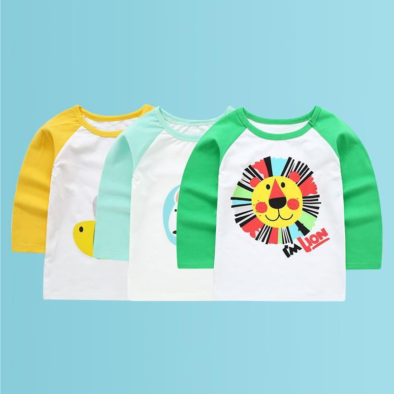 3 pz / lotto re leone bambini t-shirt vestiti a maniche lunghe t-shirt boy baby top camicia per bambini per le ragazze bambino t-shirt j190529