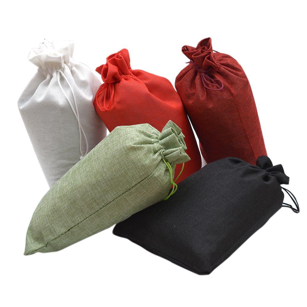 10-50pcs Linen Sack Drawstring Jute Gift Bags Wedding Favor Candy Xmas Pouch UK