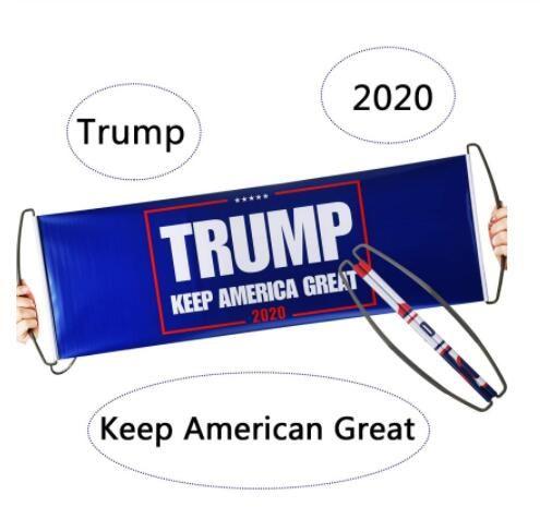 Drapeau 2020 Président Élection à main Trump Trump drapeau autocollant pour voiture Top bannières Drapeau de qualité pour supporter Trump Livraison gratuite