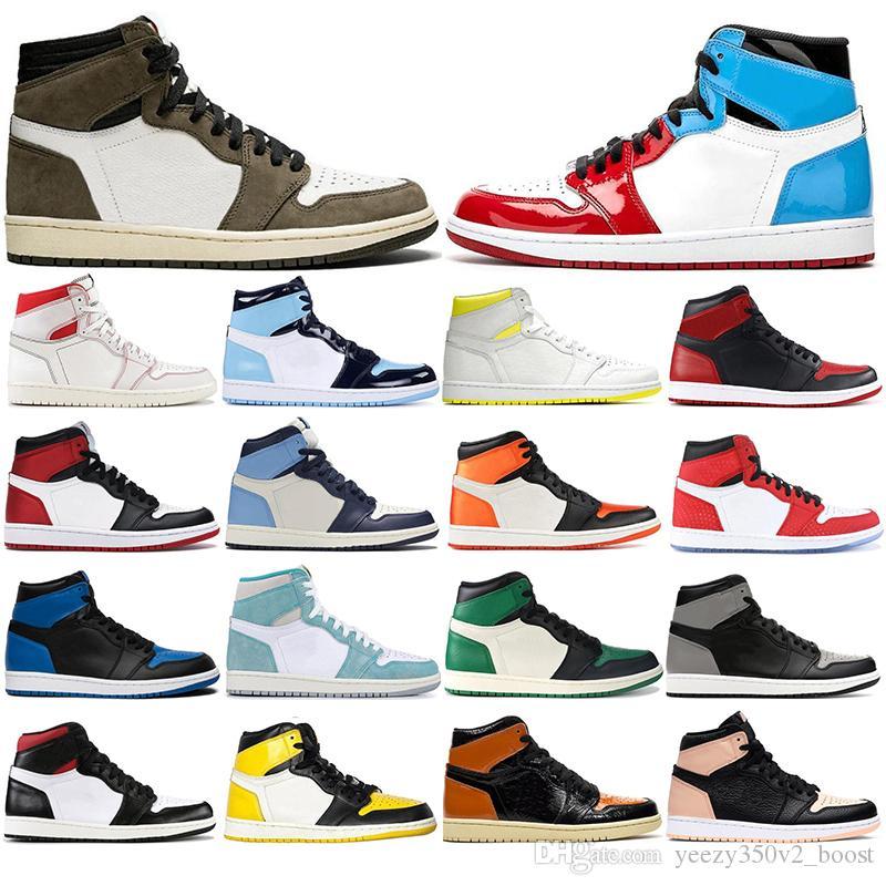 Nike AIR Jordan 1 Con i calzini liberi nuova alta qualità 1s Scarpe Mens Basketball 1 mens formatori Mocha Mocha Nero Toe dimensioni Obsidian UNC Sport Sneakers 36-46
