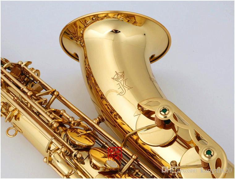 JK Keilwerth ST110 neue Ankunfts-B-Tenor-Saxophon Messing Goldlack B Flat Musikinstrumente Saxophon mit Fall-Mundstück