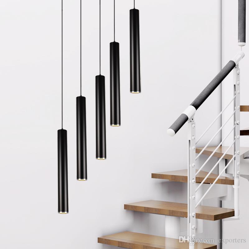 Nueva Llegada LED Lámpara Colgante Decorativa Iluminación Aluminio Lámpara Cilíndrica Accesorio para Pasillo Pasillo porche pasillo Lámpara de Bar Diámetro 10 cm