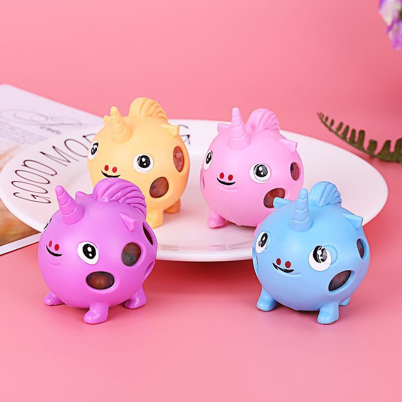 Schöne Einhorn und Ente Squishy Spielzeug Eco Friendly TPR Kinder Squishies Toy Decompression Squeeze-Puppen für Party-Geschenke 1 98ch E1