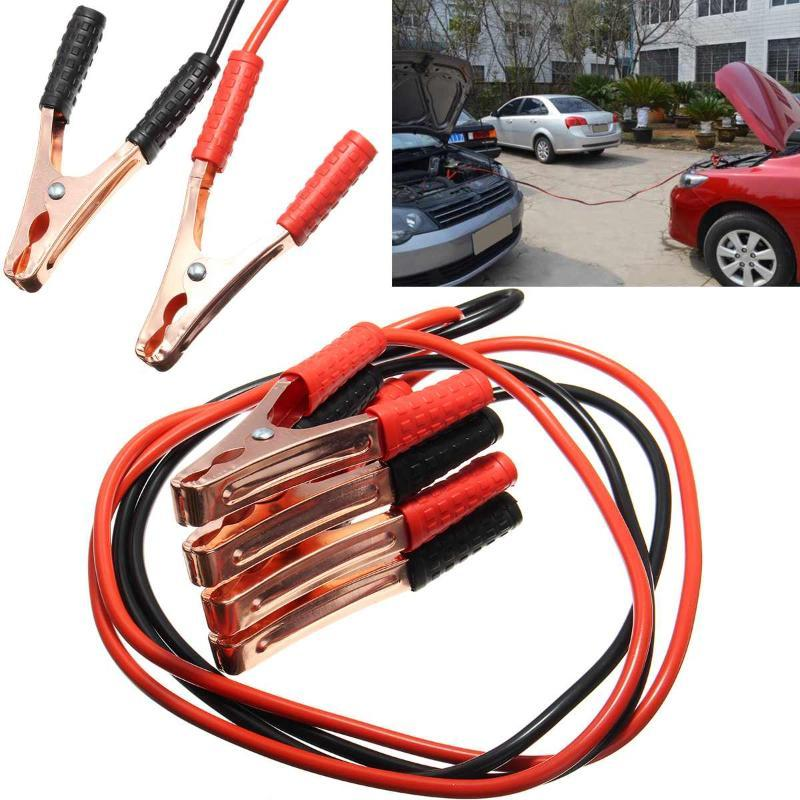 2M 500 Amp Car Battery Line Emergency Power Supply Cord Cable Clip Copper Wire