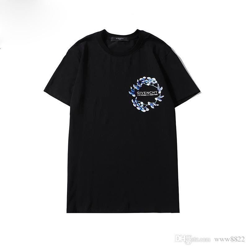 2020Fashion LuxuxMens Designer-T-Shirt der Männer Kleidung 3D-Sommer-T-Shirt Hip Hop Männer Frauen Short Sleeve Größe M-3XL