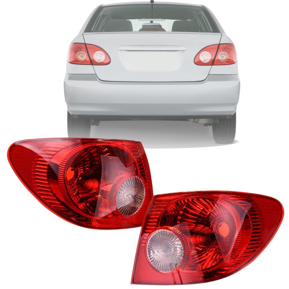 PAIR Fits 2005-2008 Toyota Corolla Outer TAIL LIGHT Rear