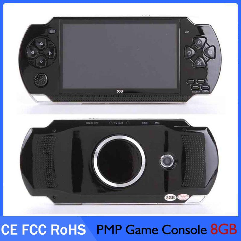 PMP X6 Handheld Game Console Screen For PSP Game Store Classic Games TV Output Portable Video Game Player
