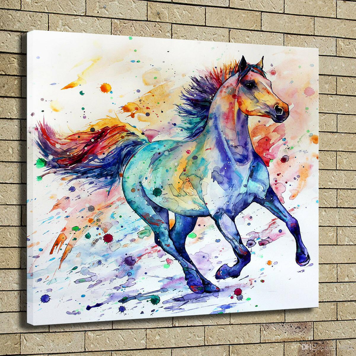 2020 Decor Art Running Horse Colorful Art Home Decor Handpainted Hd Print Oil Painting On Canvas Wall Art Canvas Pictures 191105 From N888 15 23 Dhgate Com
