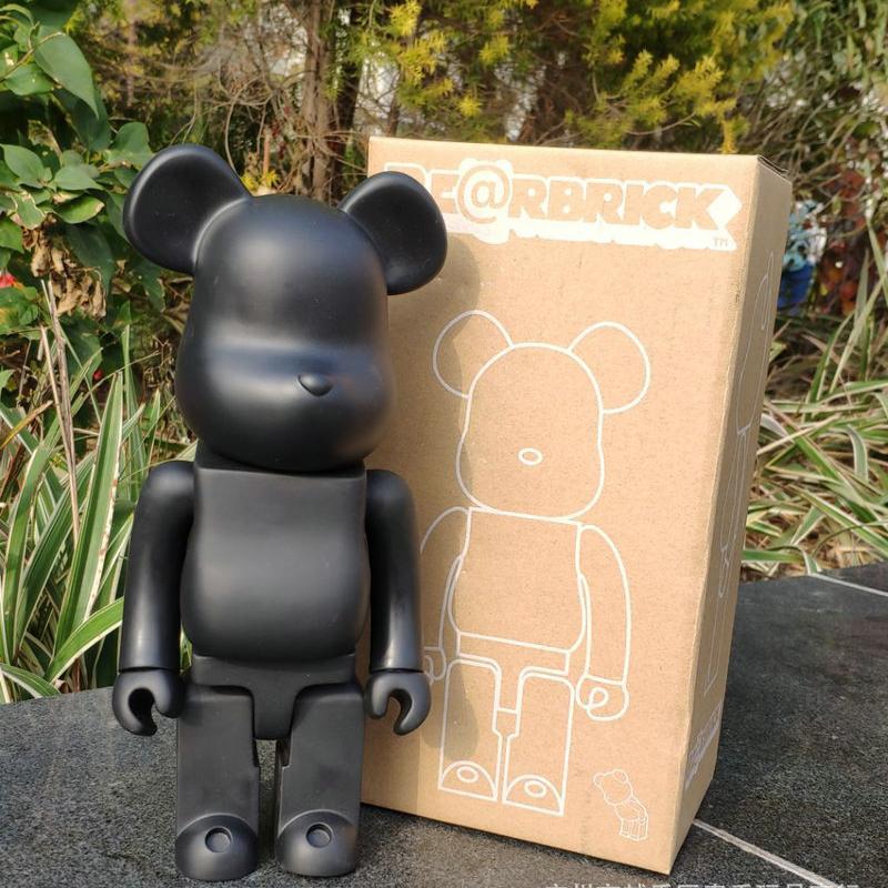 11inch 400% Bearbrick Orso @ mattoni Action Figures Block Orso PVC Modello Figure fai da te vernice Bambole bambini Giocattoli per bambini regali di compleanno T200106