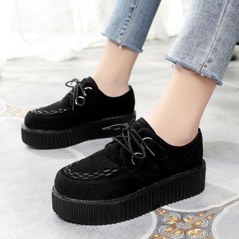 Creepers Shoes Woman Plus Size 35 41