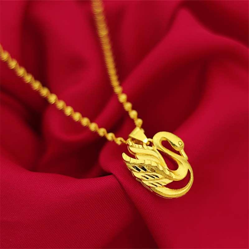 Весна новые продукты Вьетнам Shajin имитация золота женские модели кулон японский и корейский мода элегантный лебедь ожерелье