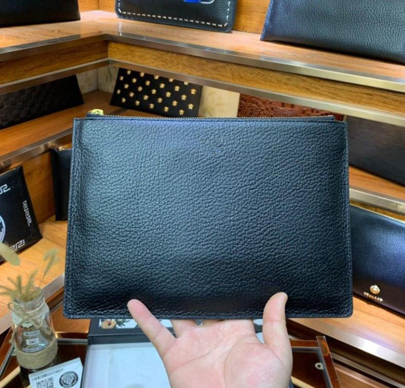 briefcase with box new arrival men clutch bags top quality England Style handbags genuine leather hand bags for men
