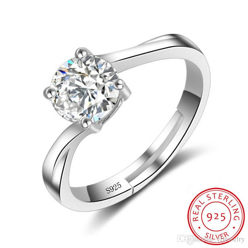 Wholesale Fashion Silver 925 Adjustable Rings Unique Design Sterling Silver Ring with Cubic Zirconia CZ Jewelry for Women XR056