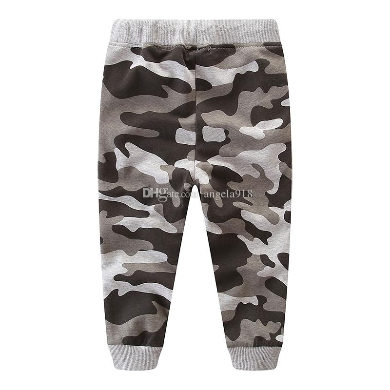 Moda Sports Sweatpants bebê Crianças Boy cor camuflar Calças Outono Primavera faixa calças de algodão Calças LA155