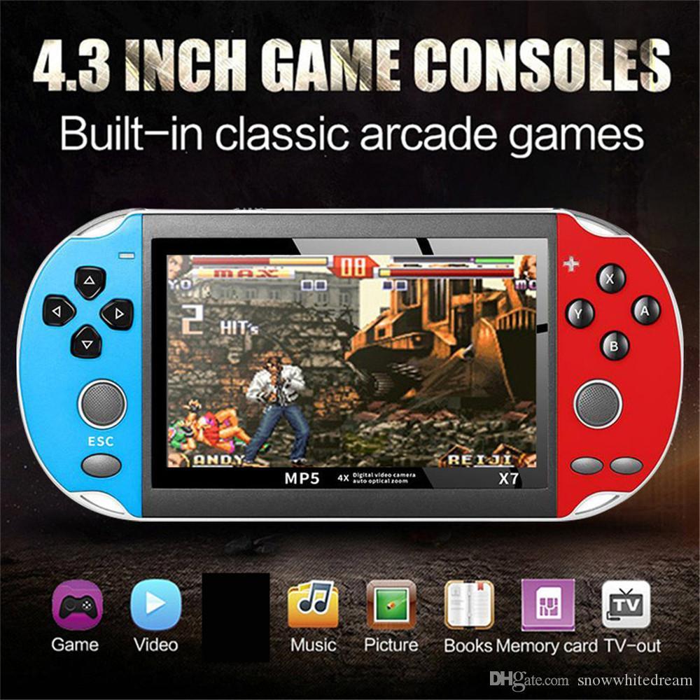 4.3 بوصة لGBA لعبة محمول وحدة التحكم X7 لعبة فيديو لاعب 300 مجاني ريترو الالعاب عرض LCD لاعب لعبة للأطفال