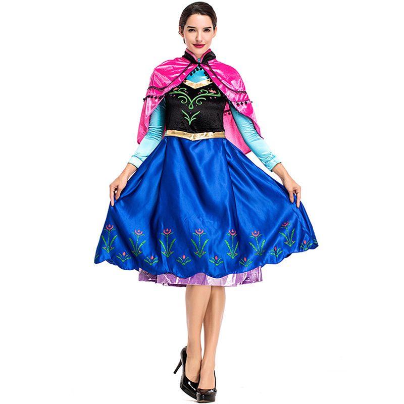 Asil Cadılar Bayramı Cosplay Kostüm Kadınlar Sahne Prenses Performans Kıyafet Coronation Elbise Pelerin Ile Anime Film Kraliçe Elbise