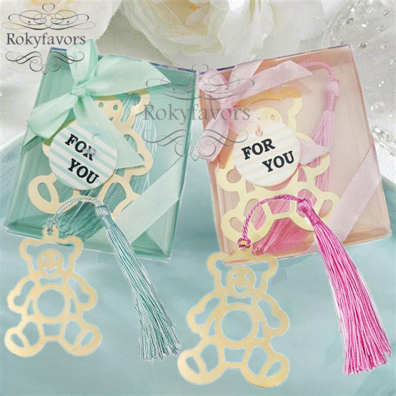 20PCS de la Osa Marcar con ducha de la boda de la borla de bebé favores de rosa / azul regalos de cumpleaños Gradulation acontecimiento del partido del recuerdo de Suministros