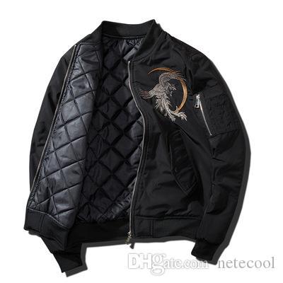 Designer Brasão Men Jackets Bordados Homens Sukajan Yokosuka Souvenir Jacket Bomber Moda Youth Uniform Casacos Streetwear Baseball