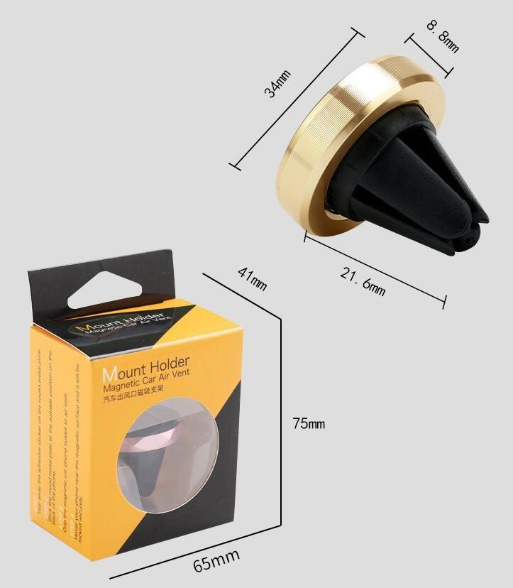 Apoio magnético do telefone móvel do carro novo suporte giratório do metal de 360 graus para o suporte do ímã da tomada automotivo do condicionamento de ar