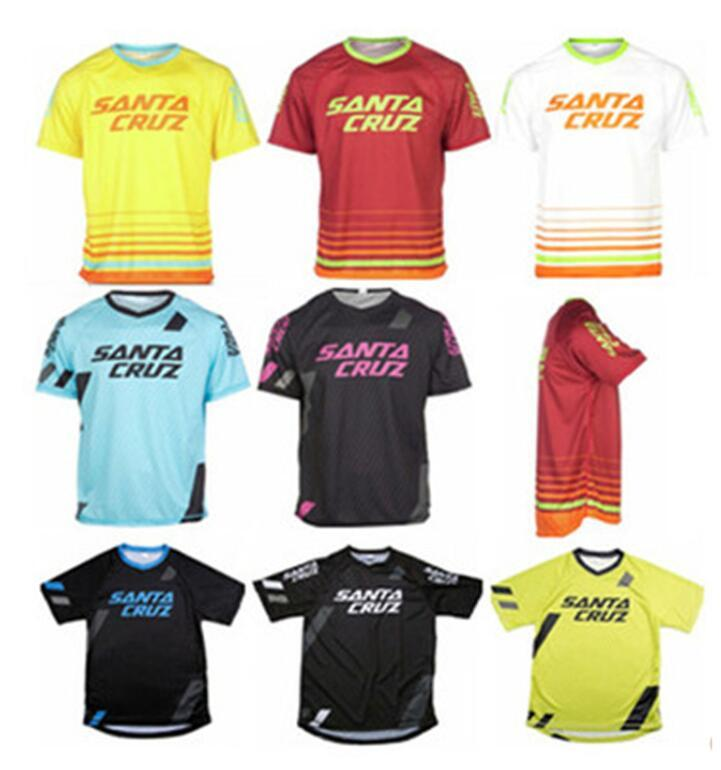 New explosion models SANTA CRUZ motorcycle racing apparel quick-drying casual outdoor cycling short-sleeved T-shirt