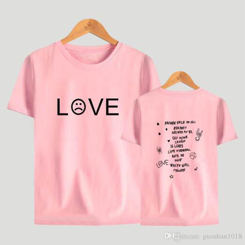 Yeni Erkekler Moda stil Serin Pamuk Lil Peep Aşk Baskı Kadınlar ve Erkekler yaz Kalça Hop Casual Kısa Kollu Tişörtler Lil Peep T-Sirt