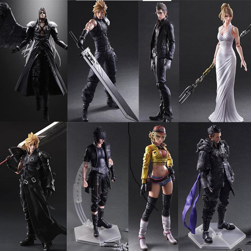 Final game Fantasy Play Arts Kai Action Figure Cloud Strife Sephiroth Noctis Lucis Squall Leonhart Cindy Aurum Figures Toy Doll T200704