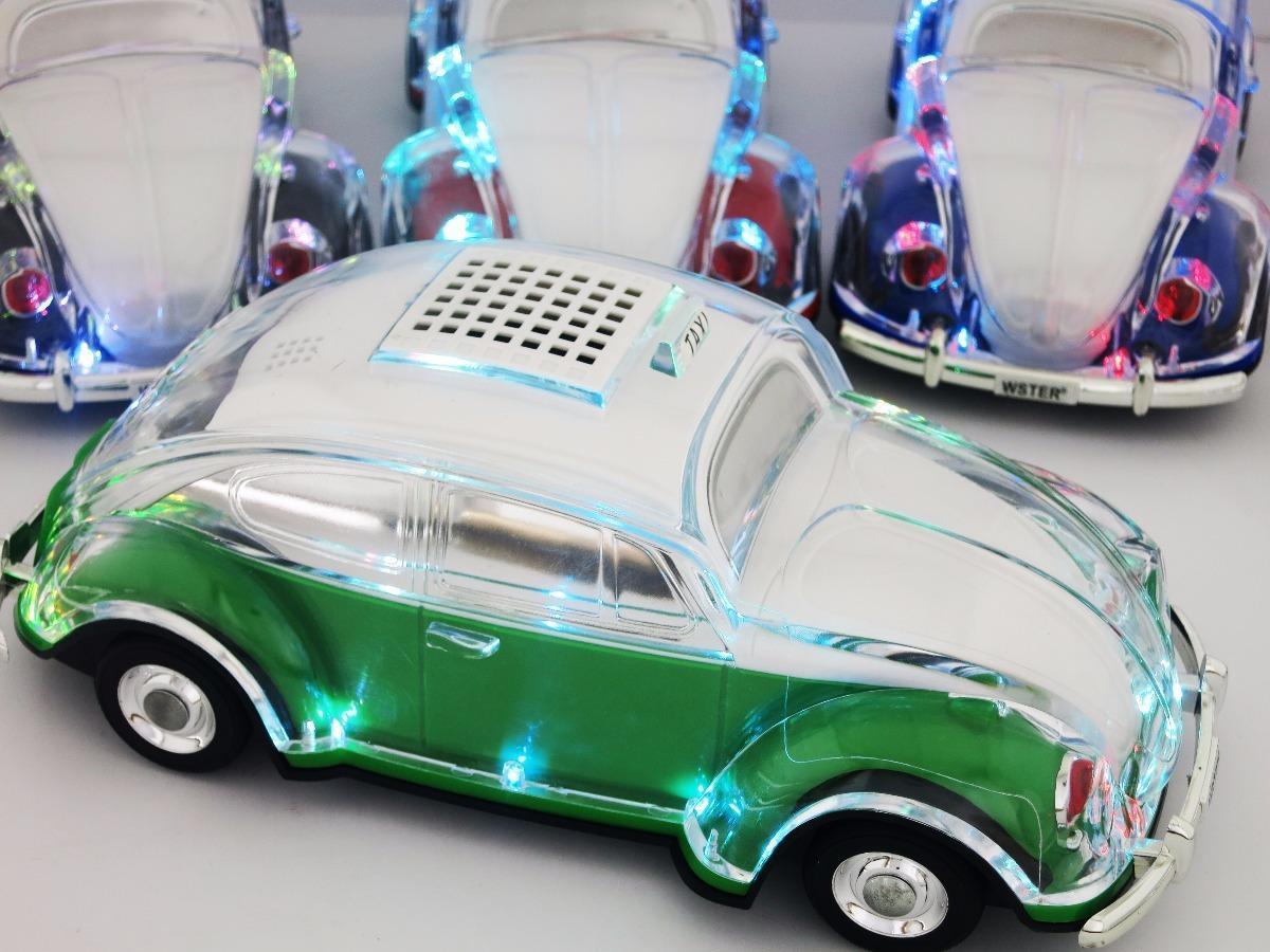 caja de cristal en forma de hilos del coche del altavoz VW Escarabajo Auto Taxi de sonido con luces LED parpadeante de MP3 de radio de FM TF Udisk bluetooth subwoofer autobús de coches