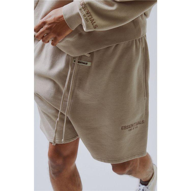 top quality hot FEAR of GOD Essentials вышивка drawstring shorts брюки повседневные дышащие уличные шорты для скейтбординга брюки 8 цветов