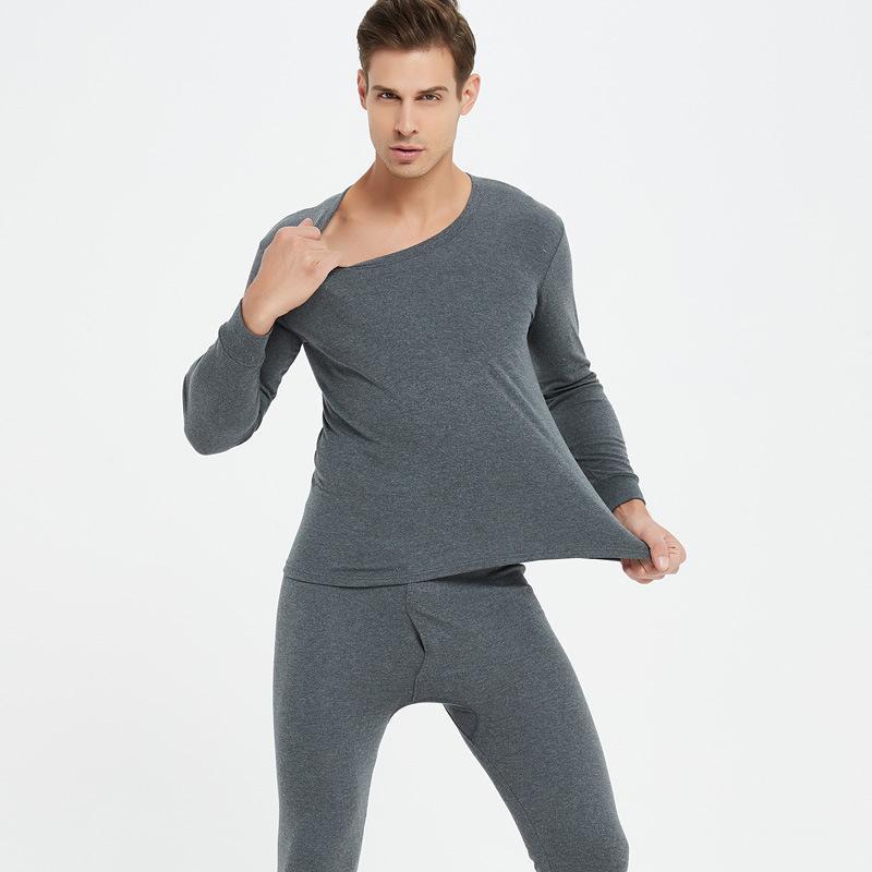 Grande taille 4XL Long Johns hommes T-shirt de compression + Leggings Sous-vêtements à manches longues chaud Ensembles Homme Survêtement Sous-vêtements thermiques