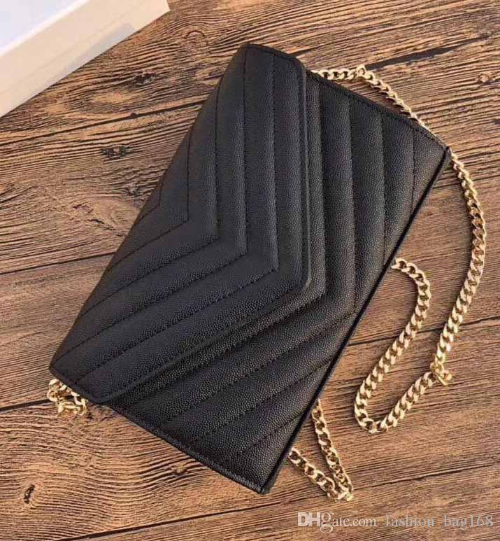 Горячие моды Роскошные дизайнерские сумки кошелек V лоскут мешок цепи плеча мешок Икра высокого качества из натуральной кожи сумка ватные Tote мешок сцепления