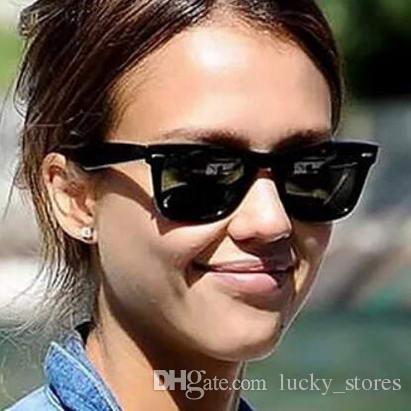 Moda Classic Sunglasses Cateye Square 50mm Designer Sun óculos Marca Homens Mulheres Eyeglasses Espelho A08 com casos