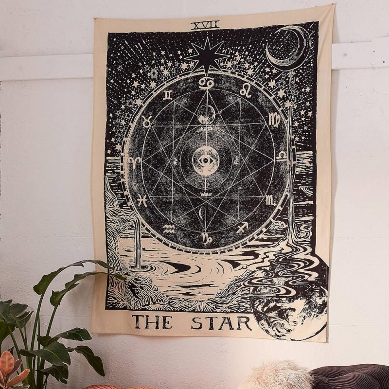 Tapestry Wall Tarot Card Tapestry Wall Hanging Astrology Divination Bedspread Beach Mat T200622