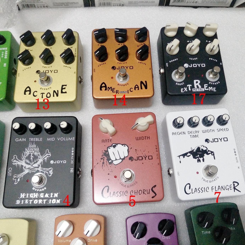 4 Efeito Guitarra Pedal Escolha Distorção Overdrive Delay Eco Reverb Multi-Efeitos Chorus Flanger Wah Fase de volume para todas as guitarras