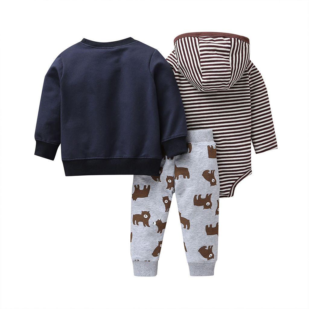Children Boy Girl Long-Sleeves Autumn Winter Clothes Cartoon Bear Coat