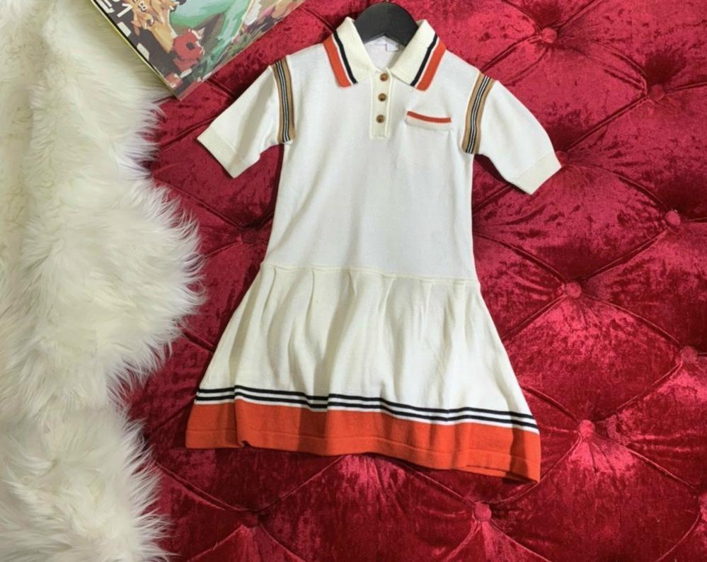 Eleman, Arka Tek Kol Nakış 032.803 Engelleme Kısa Kollu Günlük Elbiseler Kız Mizaç Küçük Yaka Örme Elbise Renk
