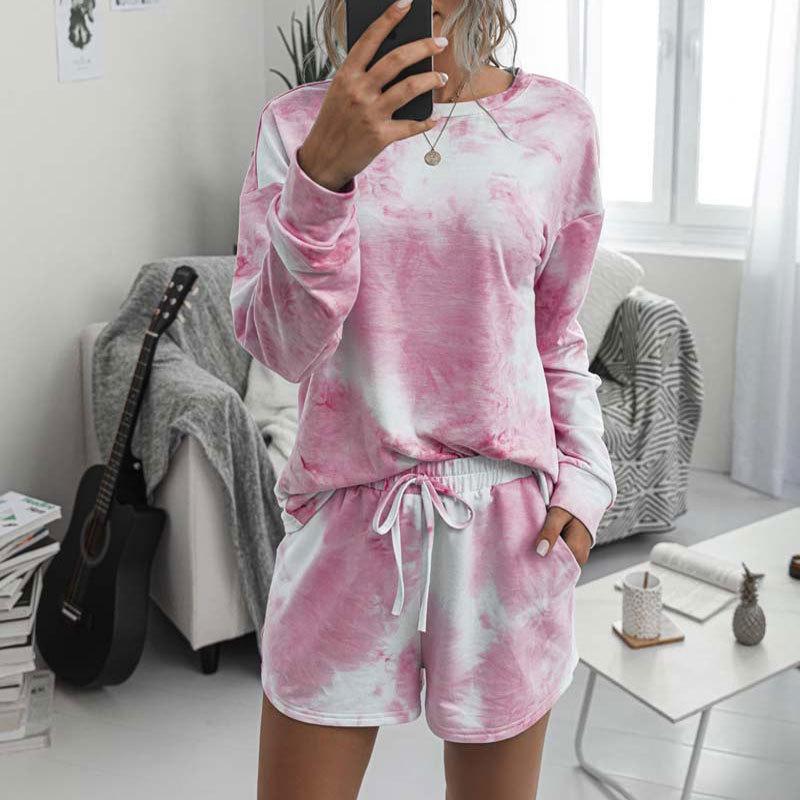 2020 2 Wear Tie Dye chándal Salón Conjunto de dos piezas de vestimenta para las mujeres T200623
